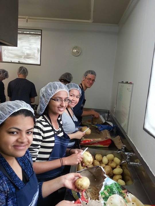 Tertiary and Parish Vinnies come together to prepare 100+ meals