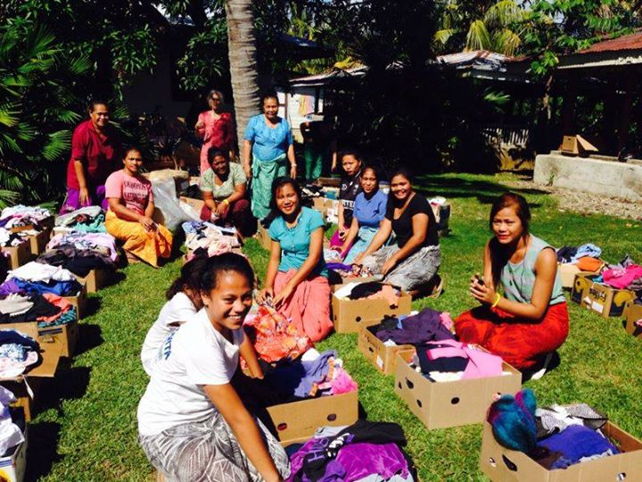 Clothing are distributed across villages in Samoa
