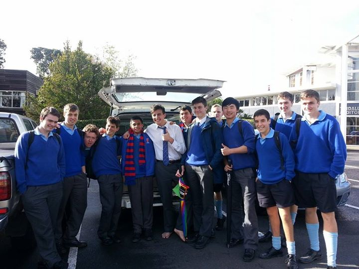 The Rosmini College Vinnies team complete their can drive for the term.
