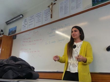 Sara gives a talk on her experiences in Iraq and the presence of poverty no different than here in NZ's own backyard.