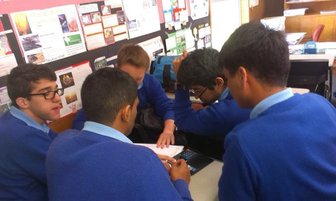 Students of Rosmini College take part in a budgeting activity