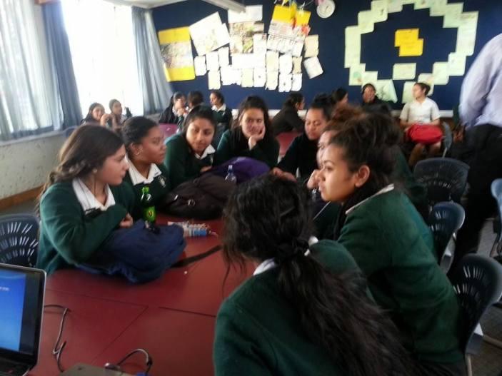 Students of St Dominic's College discuss the various needs faced by those who live in alternate housing situations.