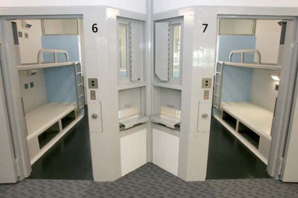 A prison cell at an Auckland remamd prison.