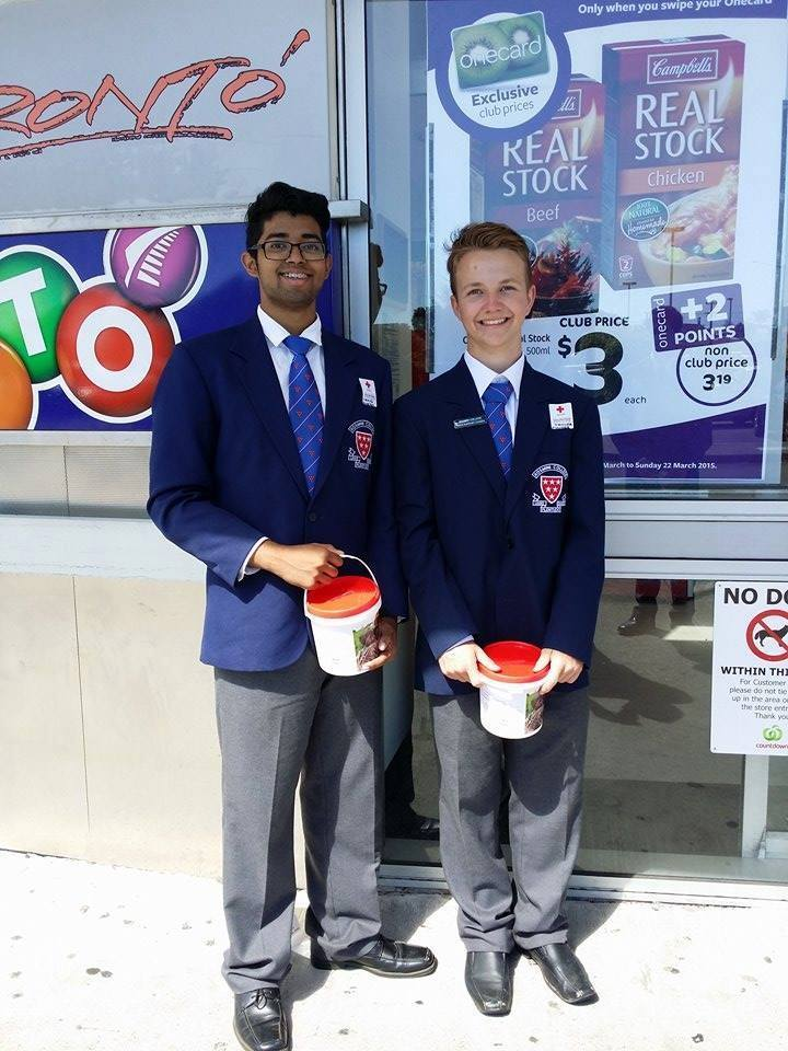 Rosmini College Vinnies assist in Red Cross Appeal