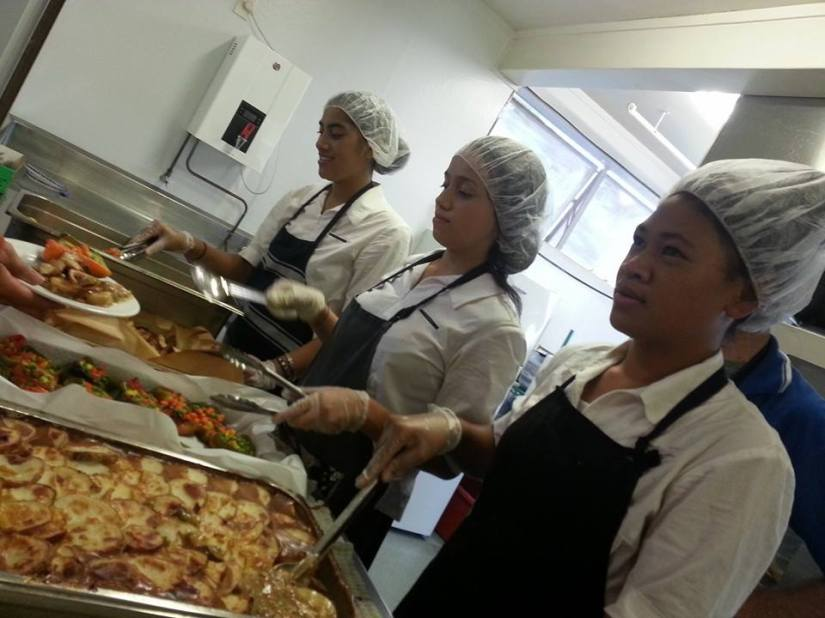 St Mary's College Students serve at James Liston Hostel