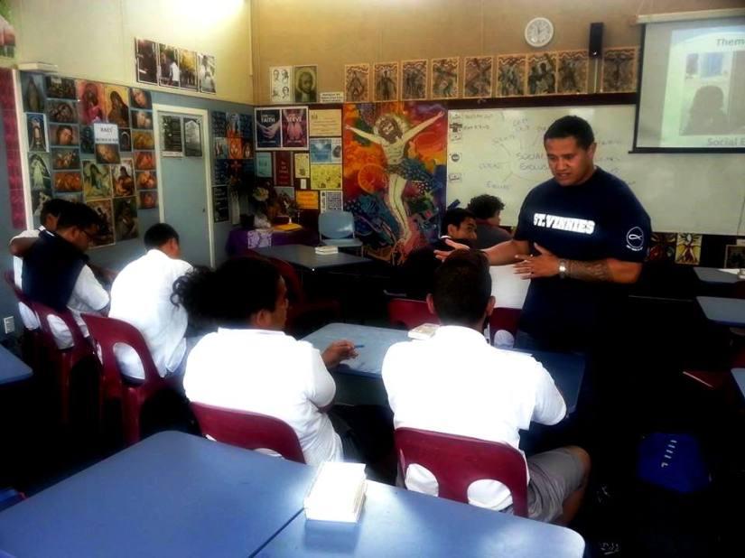 De La Salle Vinnies gaining an insight into the theme 'Social Exclusion'.