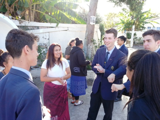 St Peter's College students join Mother of Divine Mercy Youth for an afternoon tea