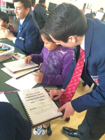 Rosmini College Vinnies assisting in an after school homework centre