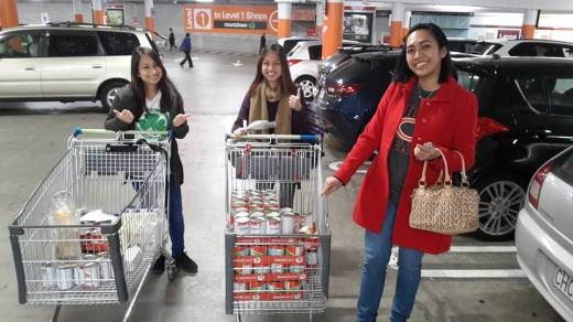 St Patrick's Youth Group members assist in procuring items for the foodbank