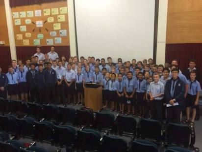 Sacred Heart College Vinnies mobilise their group in preparation for the Stationary Drive