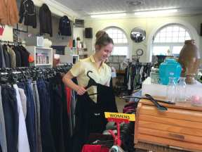 Marist College Sorting Clothing for Opshop