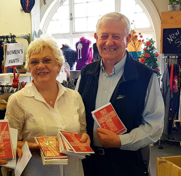 Beautiful Vincentians Heather and Gerard Hart dropping off bulk Christmas cards donations for our whanau in New Zealand prisons.💙 #TheyMatterToUs #InspirationalMentors